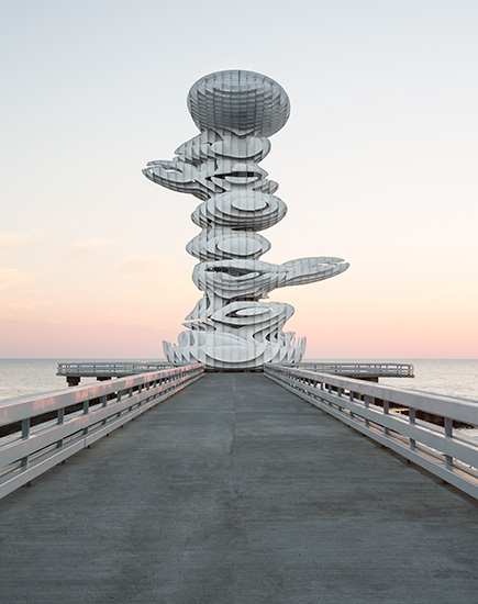 <b>kunde: </b>architect magazine   <b>projekt: </b>pier sculpture lazika, georgien   <b>architekt: </b>j. mayer h. architects