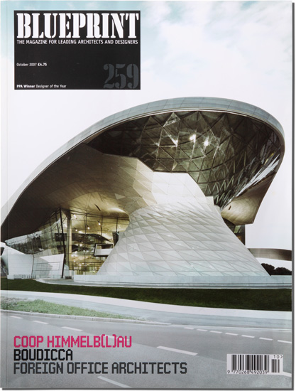 "blueprint, cover ""bmw welt"""